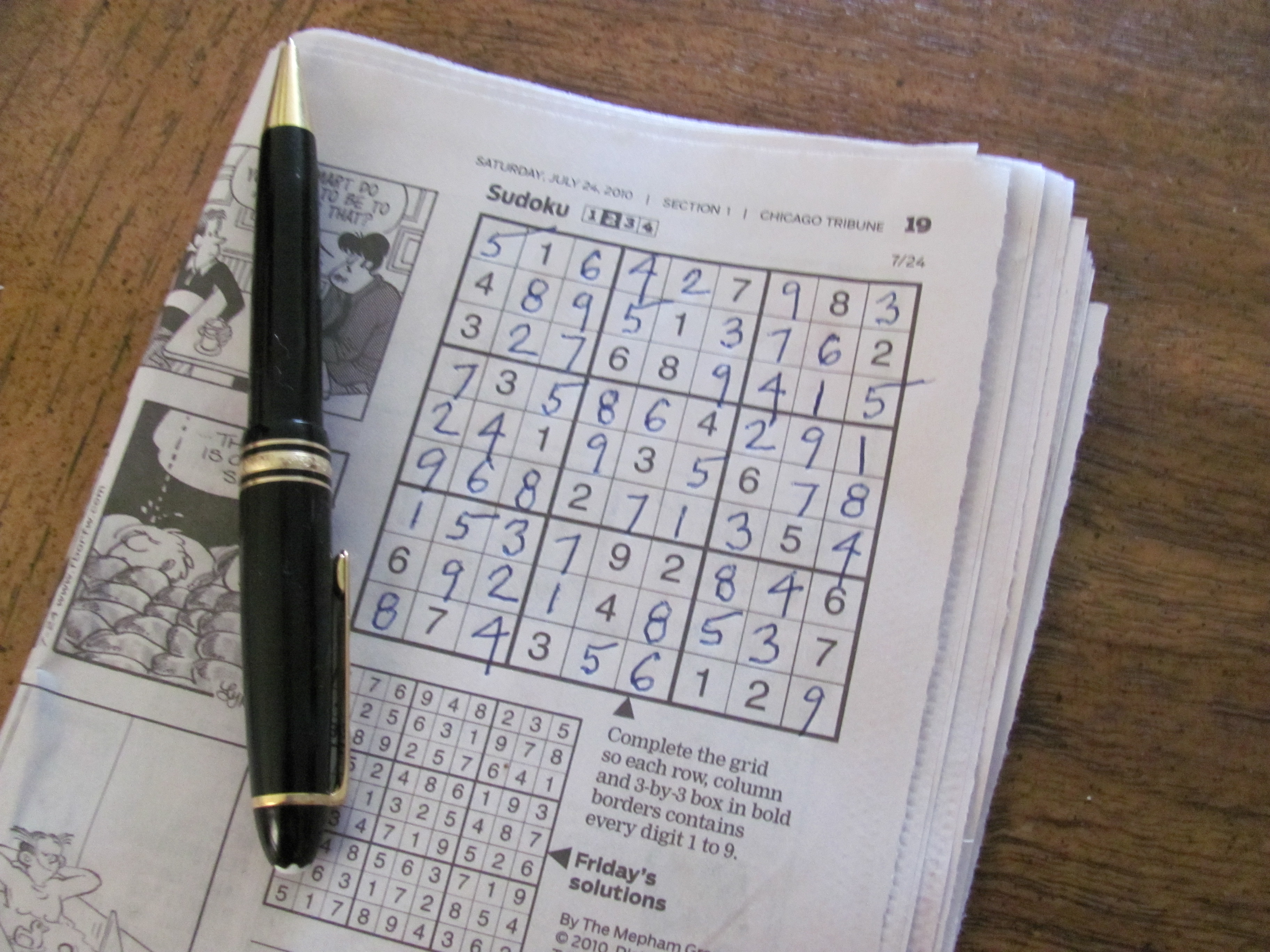 photograph regarding Chicago Tribune Daily Sudoku Printable identify What Sudoku Can Practice Your self Relating to Management Interaction