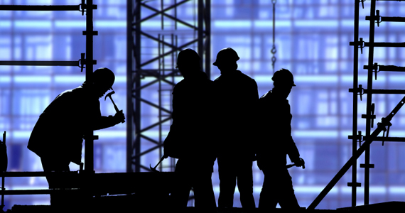 Workmen in Silhouette